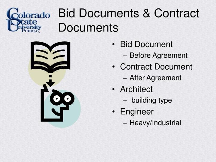 Bid Documents & Contract Documents