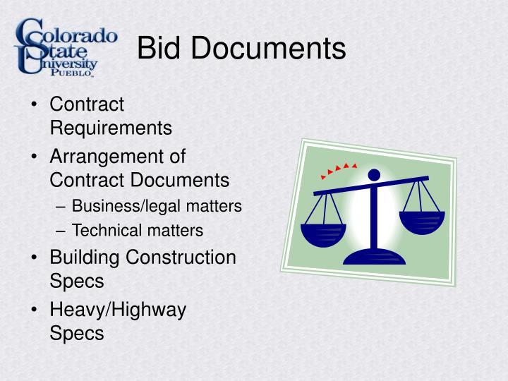 Bid Documents