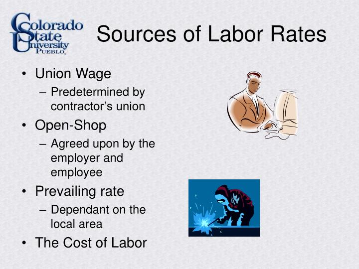 Sources of Labor Rates