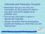informed and voluntary consent2