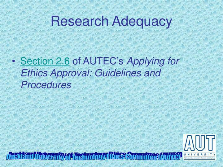 Research Adequacy