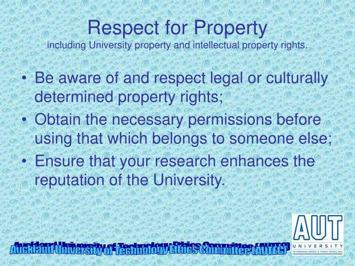 Respect for Property