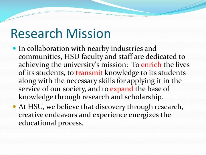 Research Mission