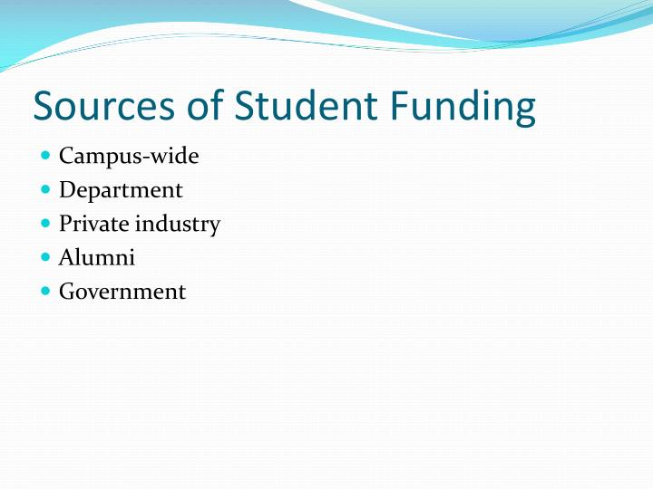 Sources of Student Funding