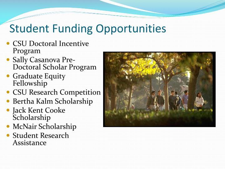 Student Funding Opportunities