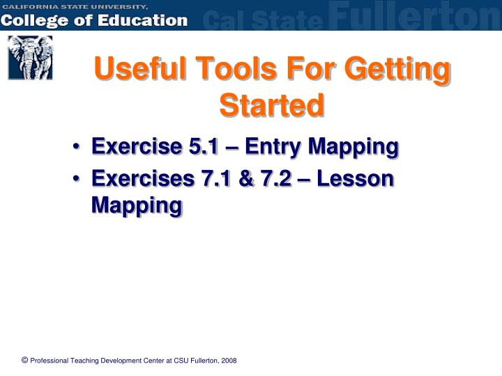 Useful Tools For Getting Started