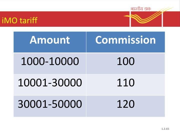 iMO tariff