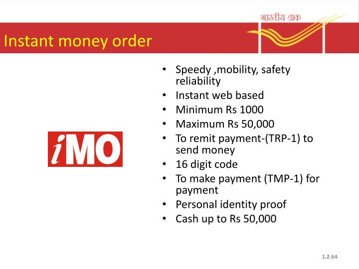Instant money order