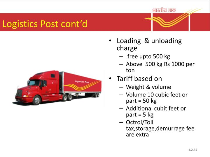 Logistics Post cont'd
