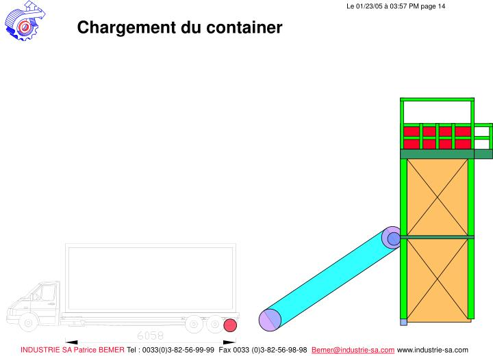 Chargement du container