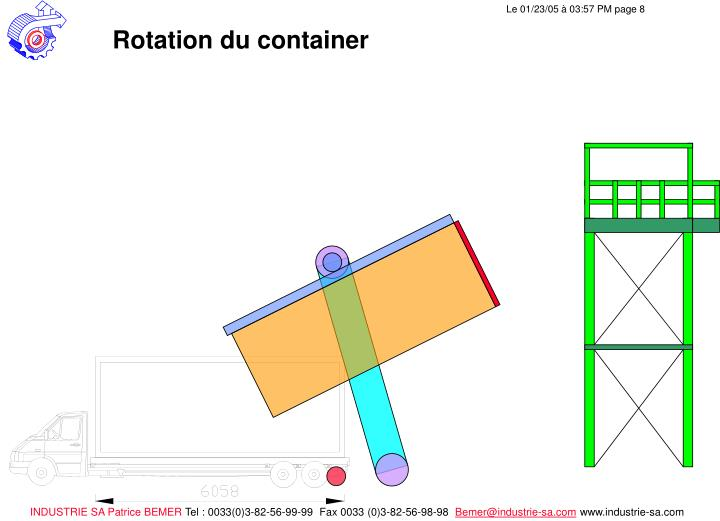Rotation du container