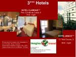 3 hotels