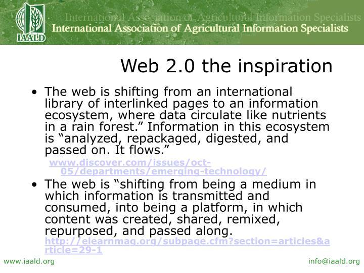 Web 2.0 the inspiration
