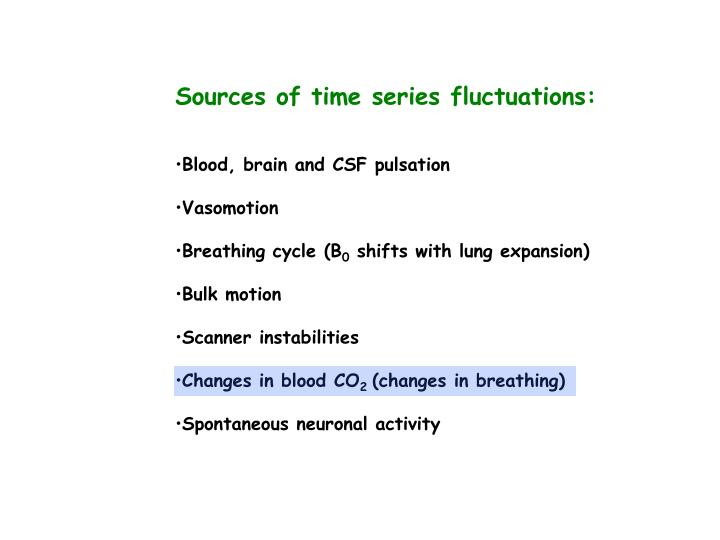 Sources of time series fluctuations: