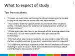what to expect of study