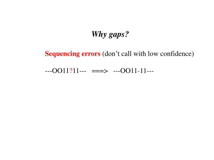 Why gaps?