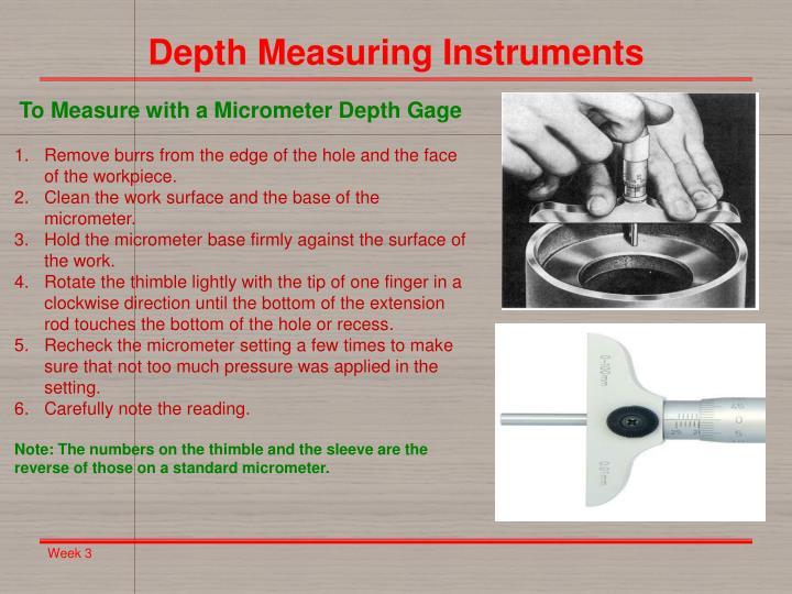 Depth Measuring Instruments