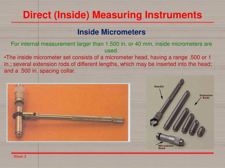 Direct (Inside) Measuring Instruments