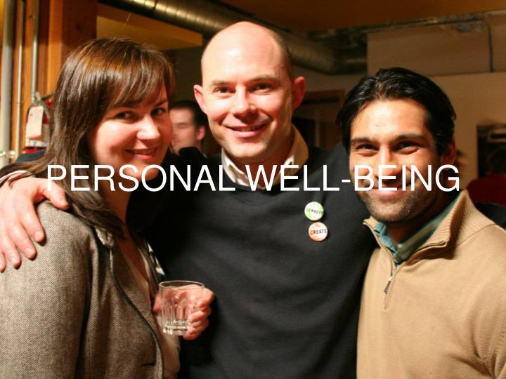 PERSONAL WELL-BEING