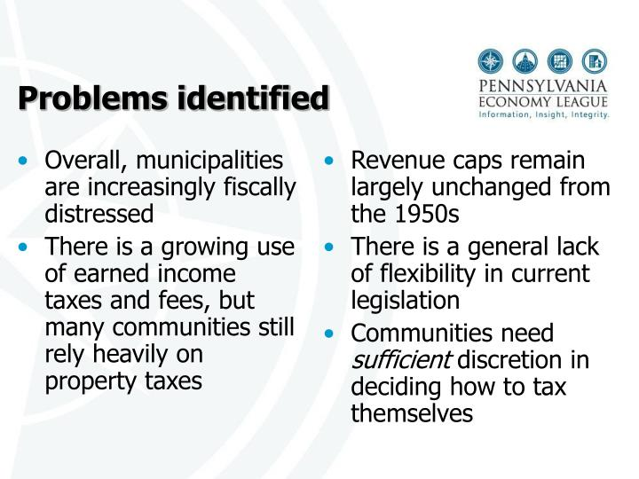 Overall, municipalities are increasingly fiscally distressed