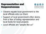 representation and responsiveness