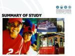 summary of study findings