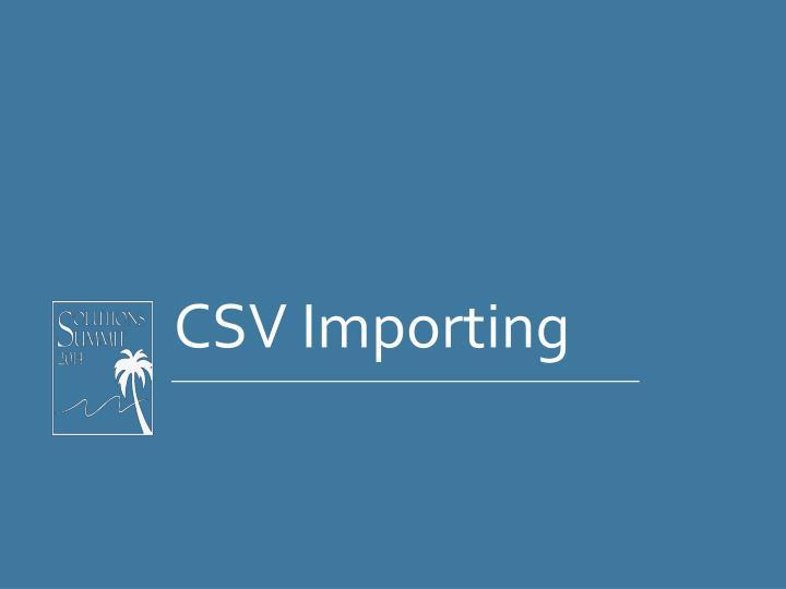 CSV Importing