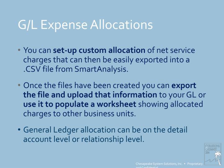 G/L Expense