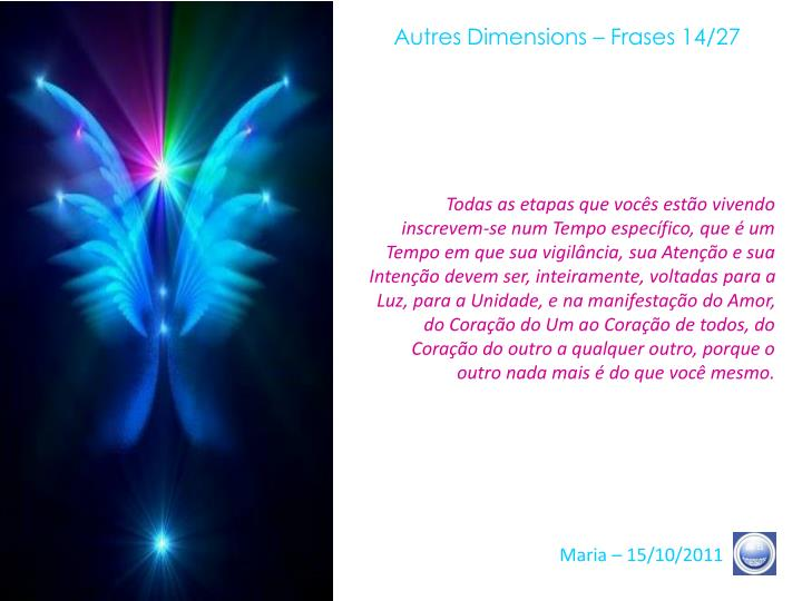 Autres Dimensions – Frases 14/27