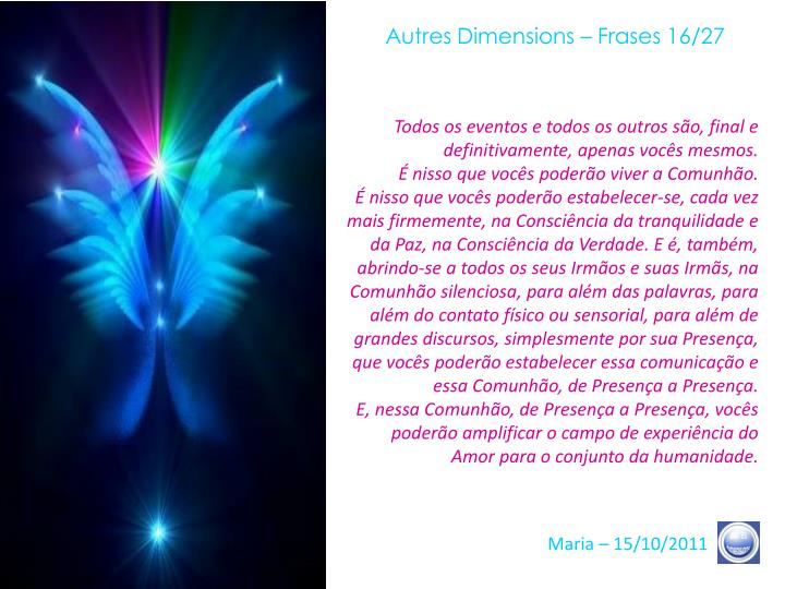 Autres Dimensions – Frases 16/27