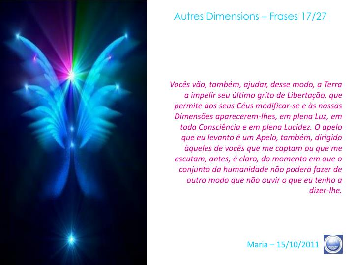 Autres Dimensions – Frases 17/27