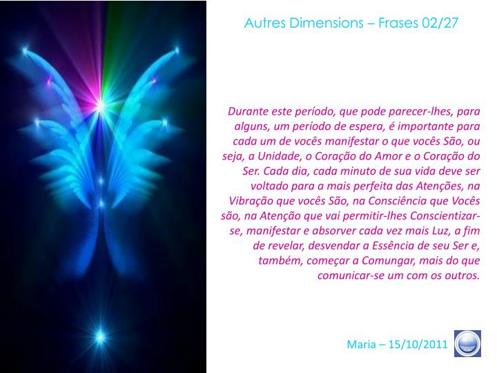Autres Dimensions – Frases 02/27