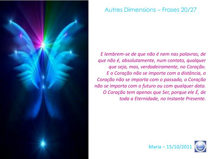 Autres Dimensions – Frases 20/27