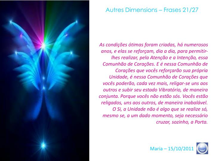 Autres Dimensions – Frases 21/27
