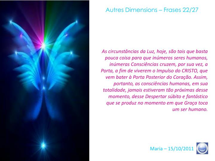 Autres Dimensions – Frases 22/27