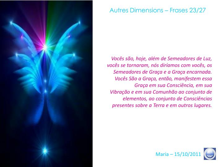 Autres Dimensions – Frases 23/27