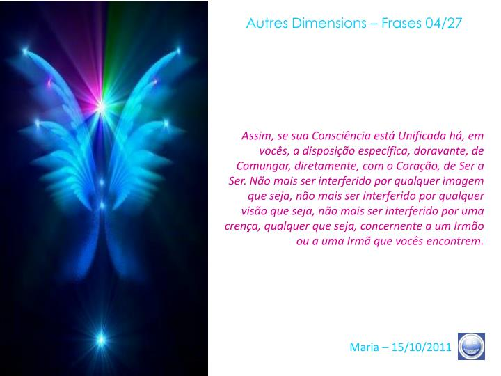 Autres Dimensions – Frases 04/27