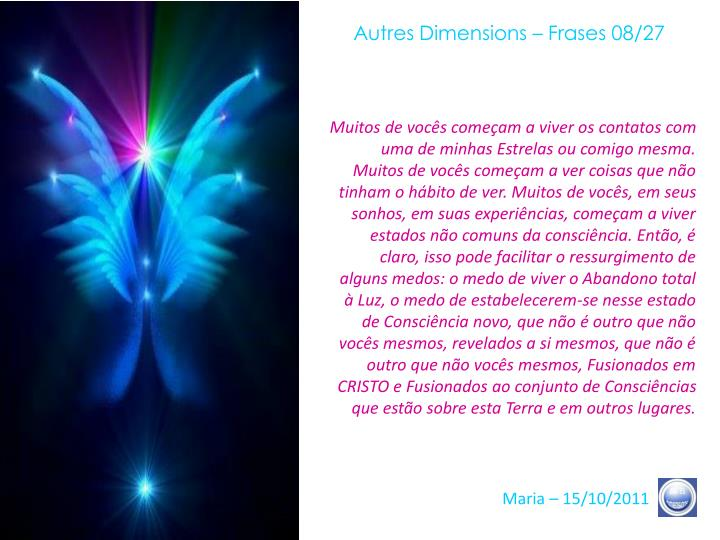Autres Dimensions – Frases 08/27