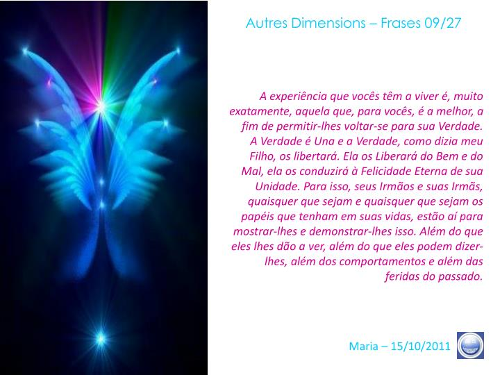 Autres Dimensions – Frases 09/27