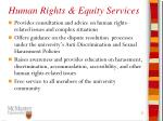 human rights equity services