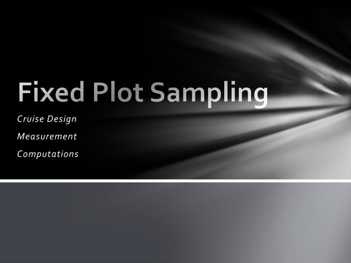 fixed plot sampling