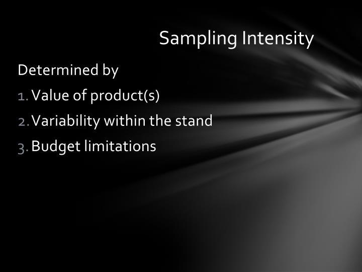 Sampling Intensity