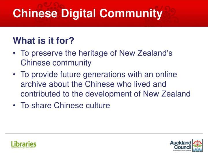 Chinese Digital Community