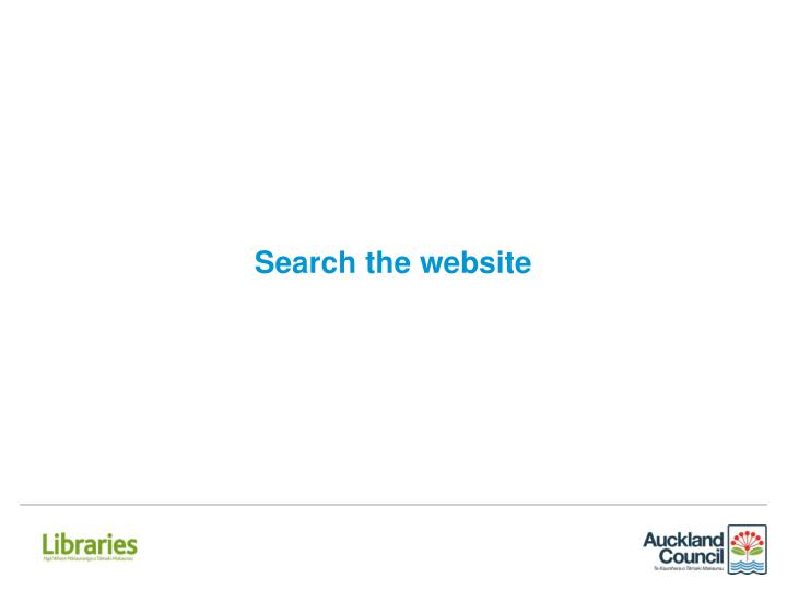 Search the website