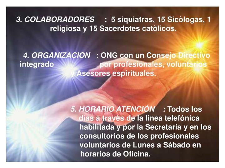3. COLABORADORES