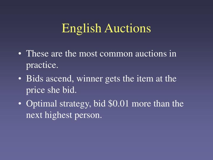 English Auctions