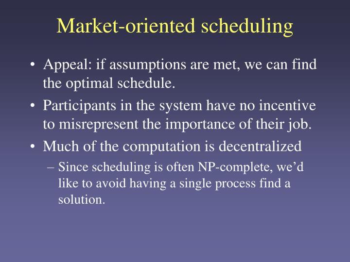 Market-oriented scheduling