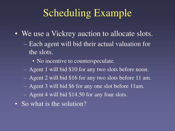 Scheduling Example