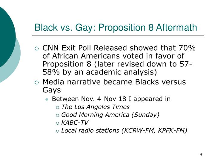 Black vs. Gay: Proposition 8 Aftermath