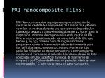 pai nanocomposite films